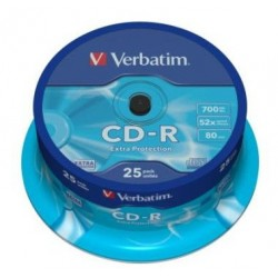 CD-R 52X 700MB BOBINA 25...